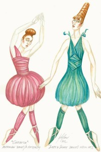 The Stepsisters, Jerome Kaplan's designs for Ratmansky's Cinderella, the Australian Ballet