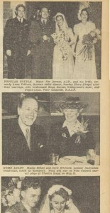 Anna Volkova marries Jim Barnes, Sydney, (top photo), reported in The Australian Women's Weekly, 11 May 1946
