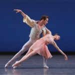 Andrew Veyette and Megan Fairchild, in Allegro Brillante, New York City Ballet, photo © Paul Kolnik