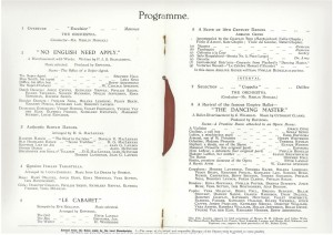 The program for the first annual matinee production of the Royal Academy of Dancing, date unknown