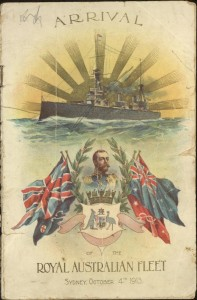 Poster for the arrival of the Royal Australian Fleet, 1913