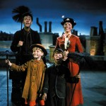 Dick van Dyke, Karen Dotrice, Matthew Garber and Julie Andrews in the 1964 Disney movie, Mary Poppins