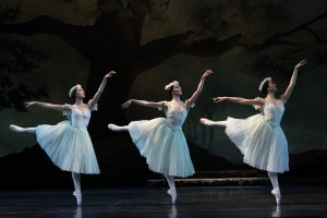 Dimity Azoury, Amy Harris and Natasha Kusen in La Sylphide 2013, photo © Jeff Busby