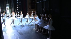 Students of the Paris Opera Ballet School in the wings at the Palais Garner, Graines d'etoiles, photographer unknown