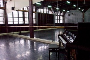 One of the four studios at Sydney Dance Company
