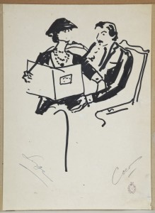 Chanel and Lifar artwork, auctioned as part of the Lifar Ballets Russes archive in Geneva in 2012