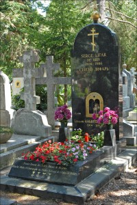 The tomb of Serge Lifar and Lillan Ahlefeldt-Laurvig, Sainte Genevieve des Bois