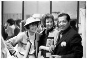 Coco Chanel, Suzy Parker and Serge Lifar in Paris, 1959, photo © Willy Rizzo