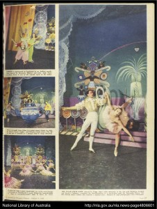 David Lichine's Nutcracker for the Borovansky Ballet, published in The Australian Women's Weekly, photos © Clive Thompson