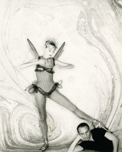 Tanaquil Le Clercq with George Balanchine in  costume for his ballet Metamorphoses
