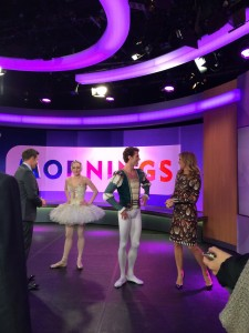 David Campbell, Gillian Murphy, James Whiteside and Sonia Kruger at Channel 9's Mornings show