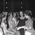 Miranda Coney, Lisa Bolte, Kathy Heathcote and Maina Gielgud with the Queen after the Royal Gala Performance of The Sleeping Beauty, 1988, photo © Desmond O'Neill