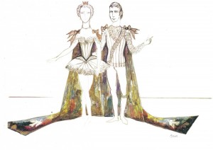 Princess Aurora and Prince Desire, Kenneth Rowell designs, The Sleeping Beauty, the Australian Ballet, 1973