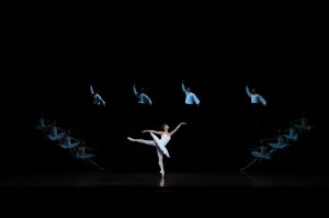 Reiko Hombo and artists of the Australian Ballet, Suite en blanc, photo courtesy the Australian Ballet 2014