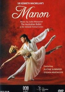 Justine Summers and Steven Heathcote, Manon, the Australian Ballet, Adelaide, cover for the 1995 video