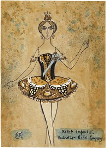 Kenneth Rowell's design for Ballet Imperial, the Australian Ballet, 1967