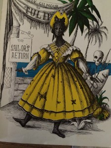 Sally Gilmour, The Sailor's Return, illustration by Loudon Sainthill, Ballet Rambert souvenir program, tour of Australian and New Zealand, 1947-49