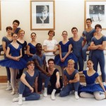 Gailene Stock at the Royal Ballet School with second and third year students, circa 2003
