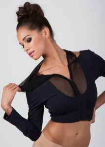 Misty Copeland modelling a top from her dancewear line,  photographer unknown