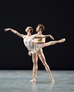 Polina Semionova and James Whiteside, Bach Partita, American Ballet Theatre, photo © Gene Schiavon