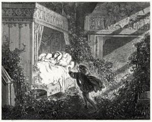 Gustave Doré's illustration for Charles Perrault's The Sleeping Beauty