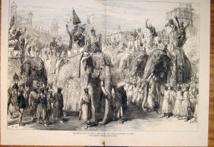 Prince of Wales arrives at Agra, Illustrated London News, March 11, 1876
