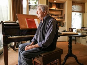 Peter Sculthorpe at home in Sydney in May 2013, photo © Sam Grimmer