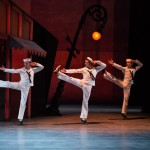 James Whiteside, Cory Stearns and Daniil Simkin, Fancy Free, American Ballet Theatre, photo © Darren Thomas
