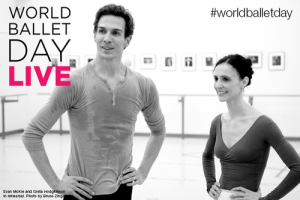 Evan McKie and Greta Hodgkinson in rehearsal, National Ballet of Canada