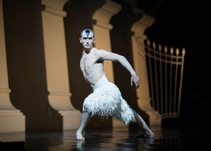 Chris Trenfield as the Swan in Matthew Bourne's Swan Lake