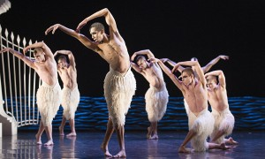 The swan corps, Matthew Bourne's Swan Lake