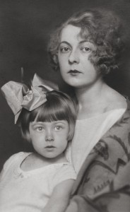 Irina Baronova, aged 4, with her mother, Lydia