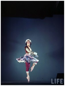 Lucia Chase in Ballet Theatre's production of Petrouchka,1943, photo © Gjon Mili