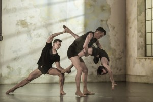Sydney Dance Company's Frame of Mind,Todd Sutherland, Sam Young-Wright and Jesse Scales, photo © by Peter Greig