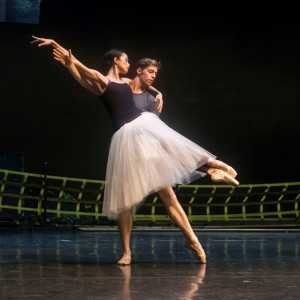 Stella Abrera and Ty King-Wall, rehearsing Giselle, Australian Ballet, photo © Kate Longley