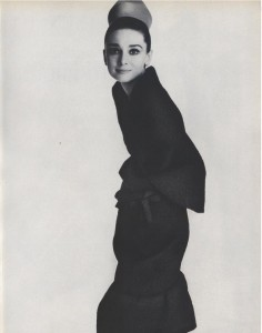 Audrey Hepburn, modelling Givenchy for Vogue, 1964, photo © Irving Penn