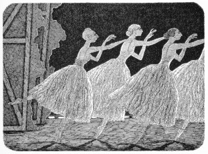 Edward Gorey's wilis from backstage
