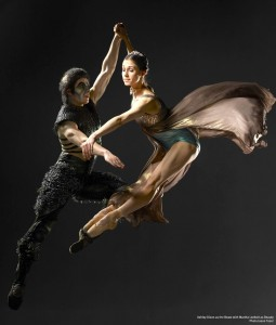 Martha Leebolt as Beauty with Ashley Dixon as the Beast, Northern Ballet Theatre,  photo © Jason Tozer