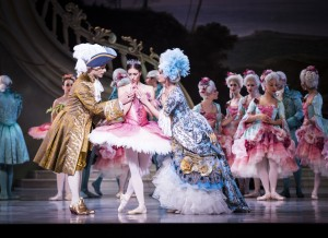 Matt Donnelly, Lana Jones and Lisa Bolte in The Sleeping Beauty, the Australian Ballet 2015,  photo © Kate Longley