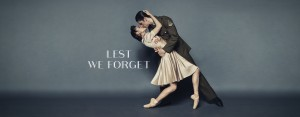 Queensland Ballet image for the Lest We Forget season, photographer unknown