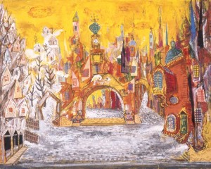 Kenneth  Rowell's design for Coppelia, Borovansky Ballet, 1960