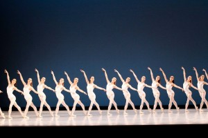 Artists of the Australian Ballet in George Balanchine's Symphony in Three Movements, photo © Jeff Busby