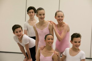 John Byrne's ballet syllabus, dancers: Ethan, Oliver, Alexis, Emilie; front row, Stella and Charlie, photo © Lynette Wills