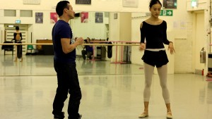 Tim Podesta and English National Ballet dancer, Jia Zhang, photographer unknown