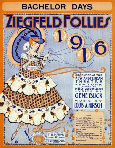 Sheet music cover, Bachelor Days, Ziegfeld Follies of 1916