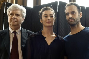 Stéphane Lissner, Aurélie Dupont and Benjamin Millepied, photo © Dominique Faget/ AFP