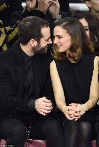 Benjamin Millepied and Natalie Portman at Paris Fashion Week, January 1915, photo © Getty Images