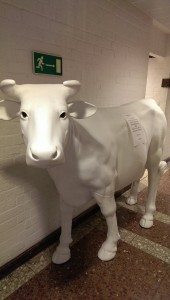 A backstage prop for Ekman's Cow