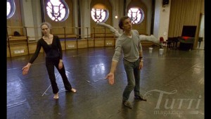 Émilie Cozette and Laurent Hilaire rehearsing Le Songe de Médée