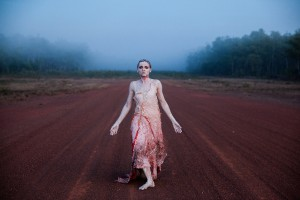 Yolande Brown as the Earth Spirit in Spear, filmed on location in Dhalinybuy, Northern Territory, photo © Jacob Nash